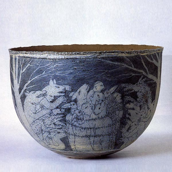 Stor skål, h. 42 cm d. 58 com, 1998